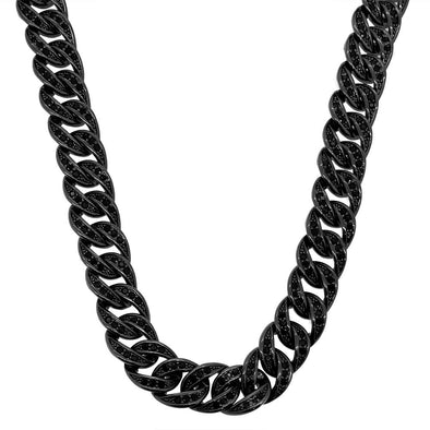 Black Bling Bling CZ Cuban Link Chain