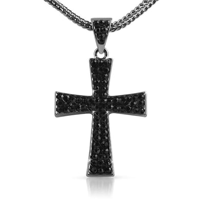 Wing Black Cross  Chain Small