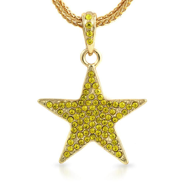 Small Lemonade Lone Star Pendant  Chain