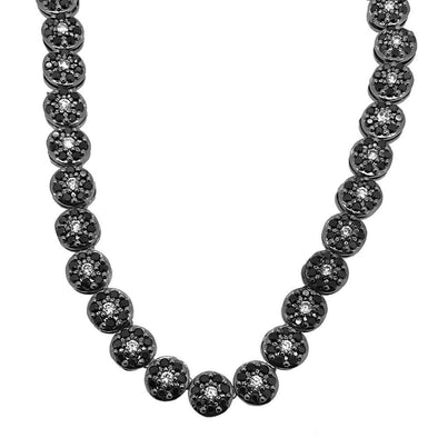 CZ Cluster Chain White Center Black