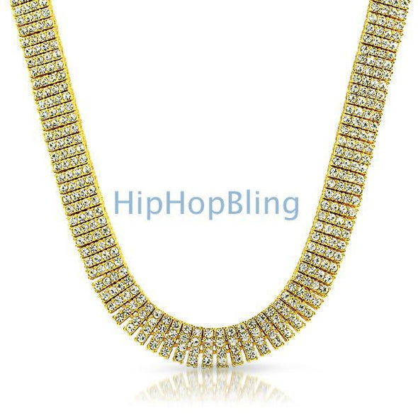 Gold 4 Row Bling Bling Chain