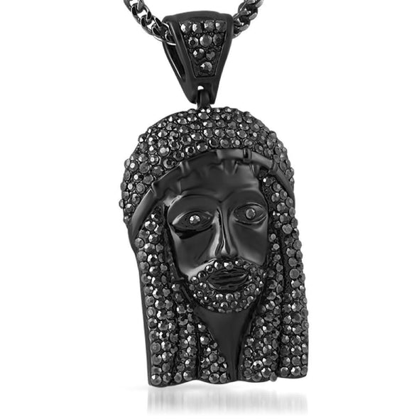 Totally Blinged Out Black Jesus Piece