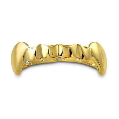 Bottom Gold Vampire Fang Grillz
