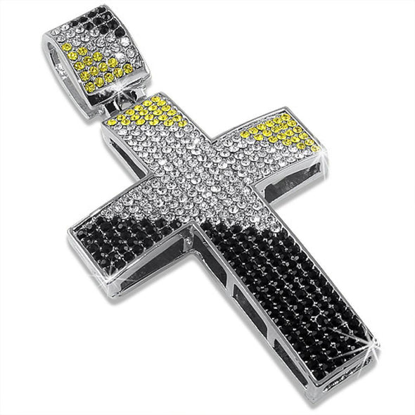 Canary Black  White Diagonal Cross