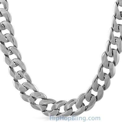 15mm Jumbo Cuban Chain Rhodium (30)