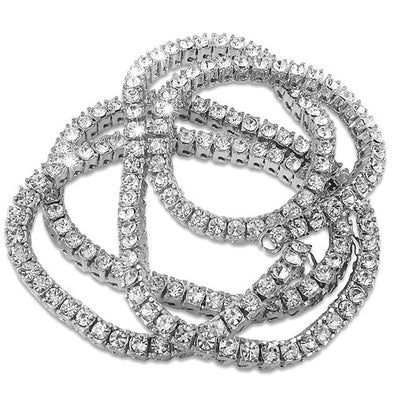 1 Row Rhodium Tennis Chain