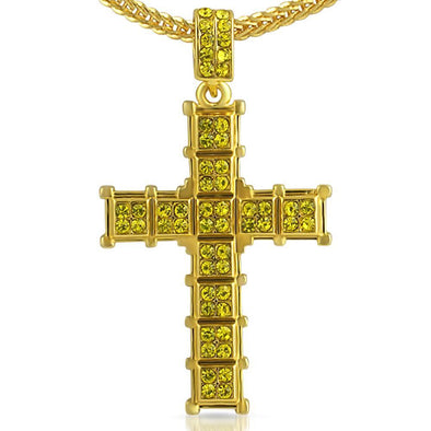 Lemonade Cube Cross Charm Chain Small