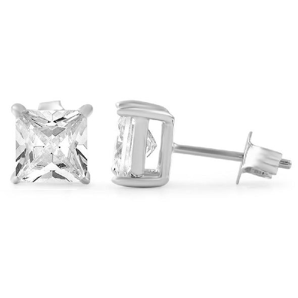 Earrings .925 CZ Rhodium