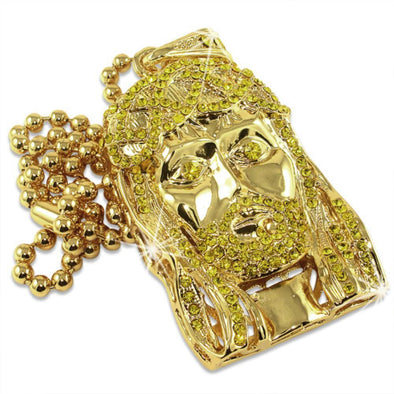 Lemonade Jesus Piece  Rosary Chain
