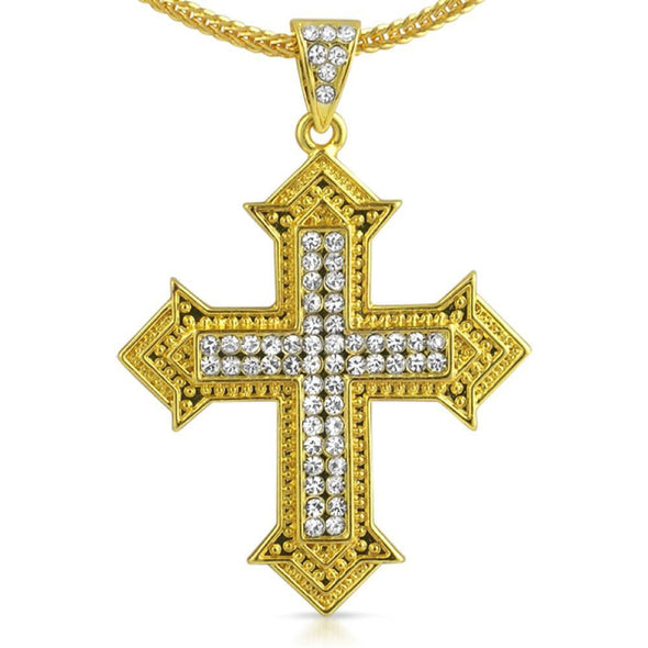Designer Cross Gold Chain Small