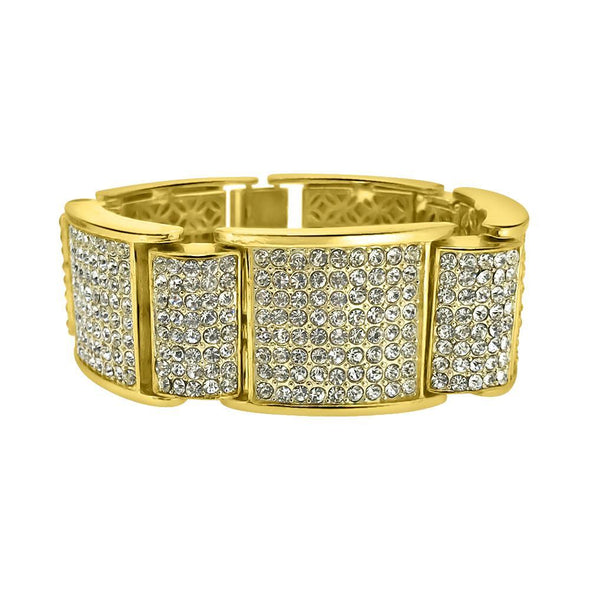 Thick Icey Gold Bling Bling Iced Bracelet