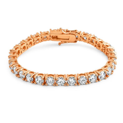 6MM CZ 1 Row Bling Tennis Bracelet Rose Gold