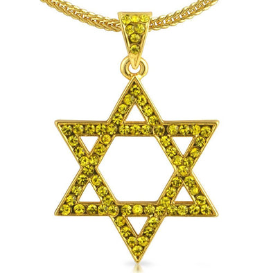 Star of David Jewish Lemonade Pendant  Chain