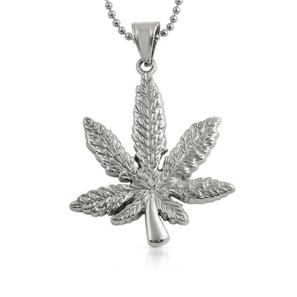 Marijuana Leaf Pendant 420 Stainless Steel