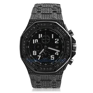 Octagon Lab Made Black Bling Bling Watch