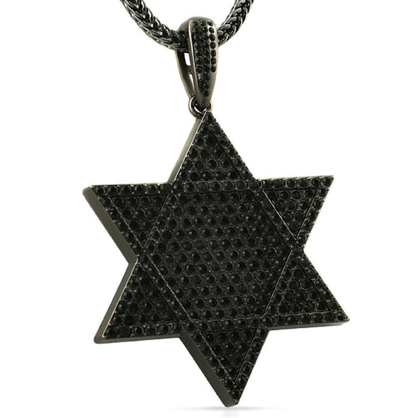 Black 6 Pointed Star Pendant