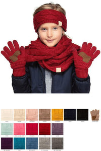 Kids Knit Gloves G-20