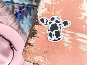 Cow Print Head Sticker