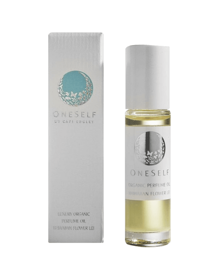 OneSelf Organics Hawaiian Flower Lei Organic Perfume Oil Packaging