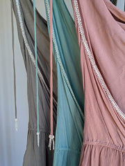 slate grey blue and dusty pink womens rompers
