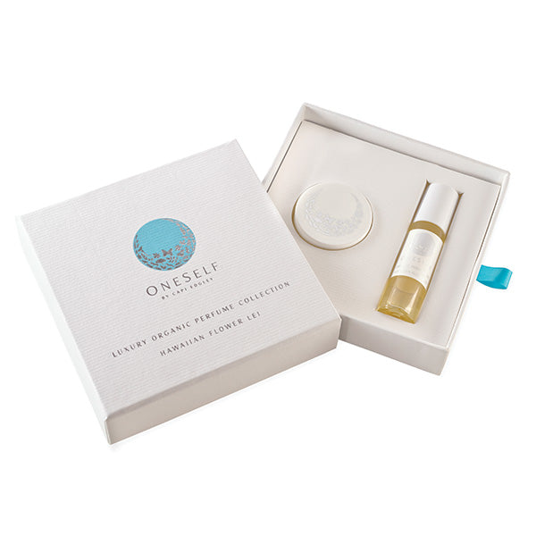 Oneself organics hawaiian flower lei organic perfume collection