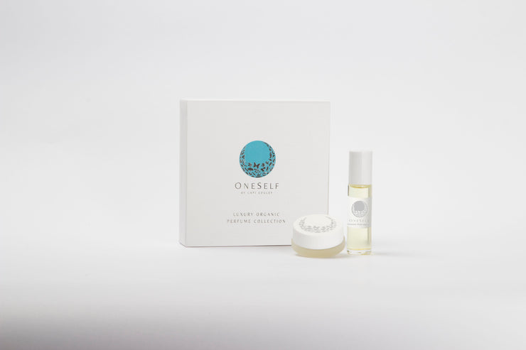 OneSelf Hawaiian Flower Lei Organic Perfume Collection Packaging