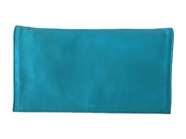 Mokuleia Leather Clutch
