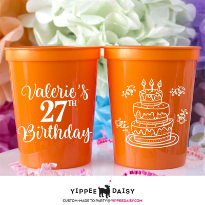 Birthday Stadium Cups