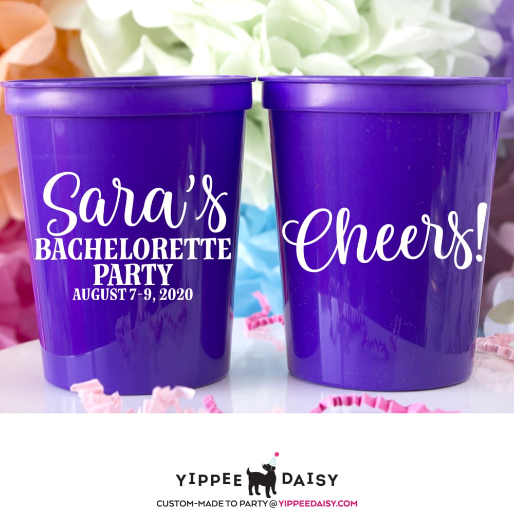 Bachelorette Party Stadium Cups