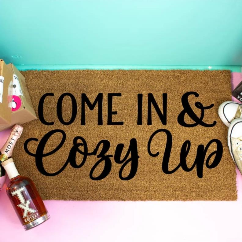 Come In Cozy Up Front Door Mat - Doormat