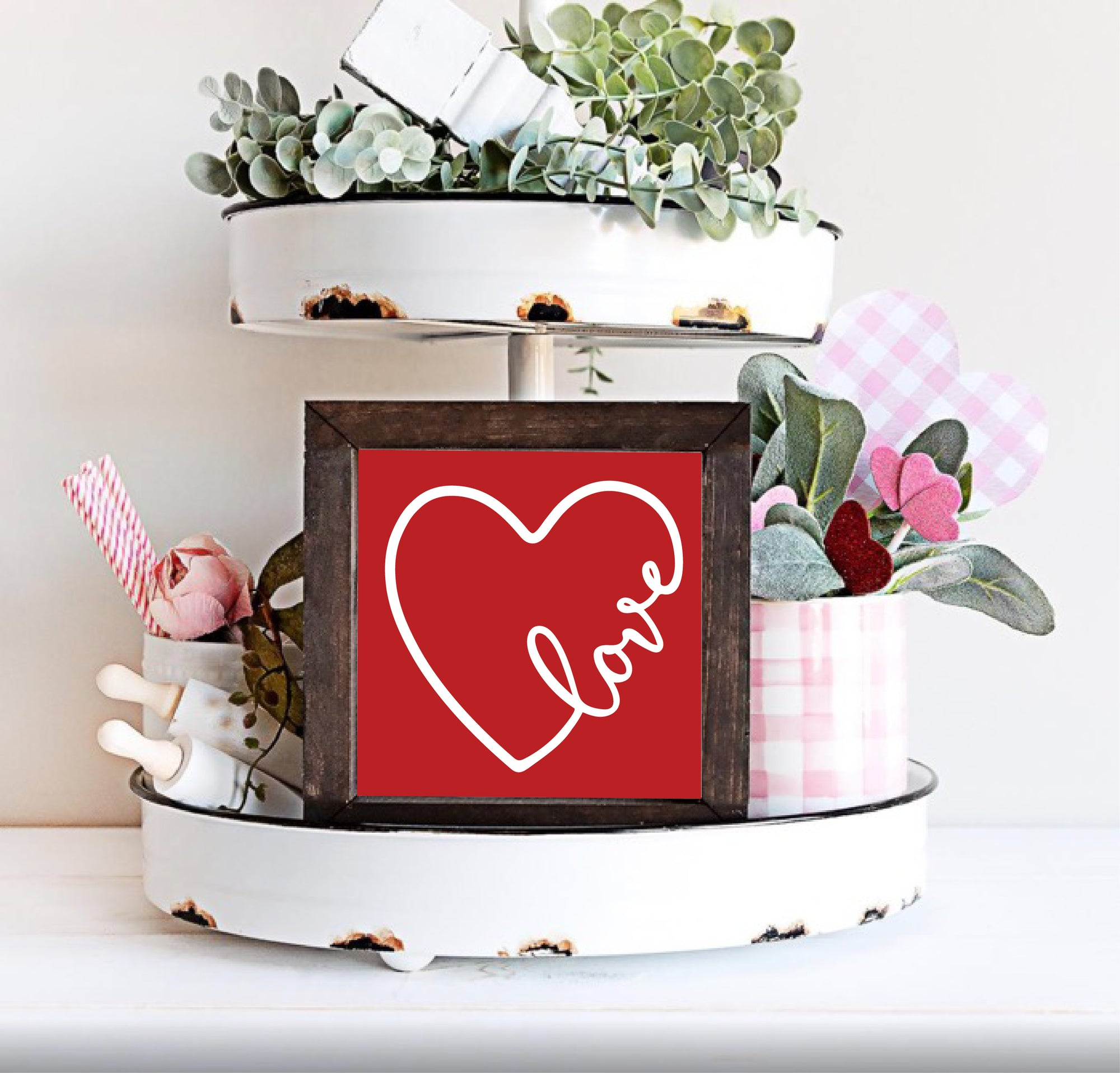 heart love framed valentine sign
