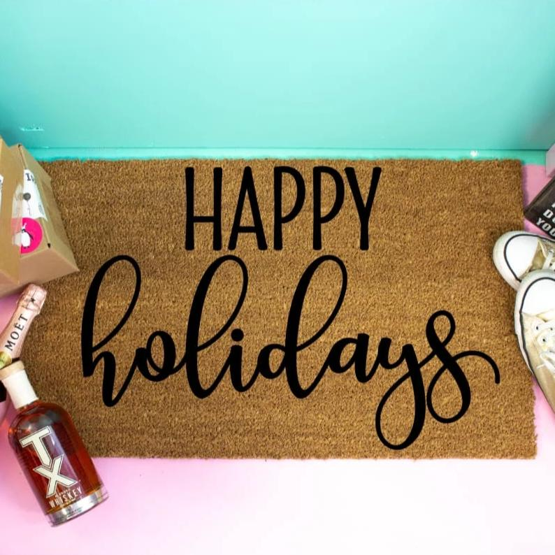 Happy Holidays Doormat - Doormat
