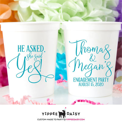 Engagement Party Stadium Cups