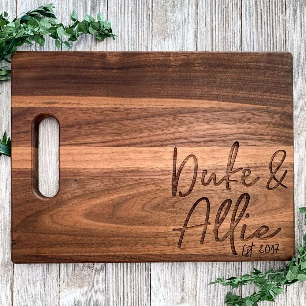 The Wedding Couple Personalized Maple Cutting Board