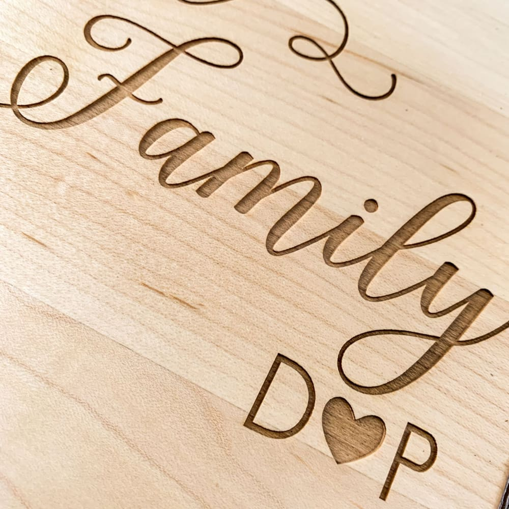 Personalized Rectangular Edge-Grain Cutting Board