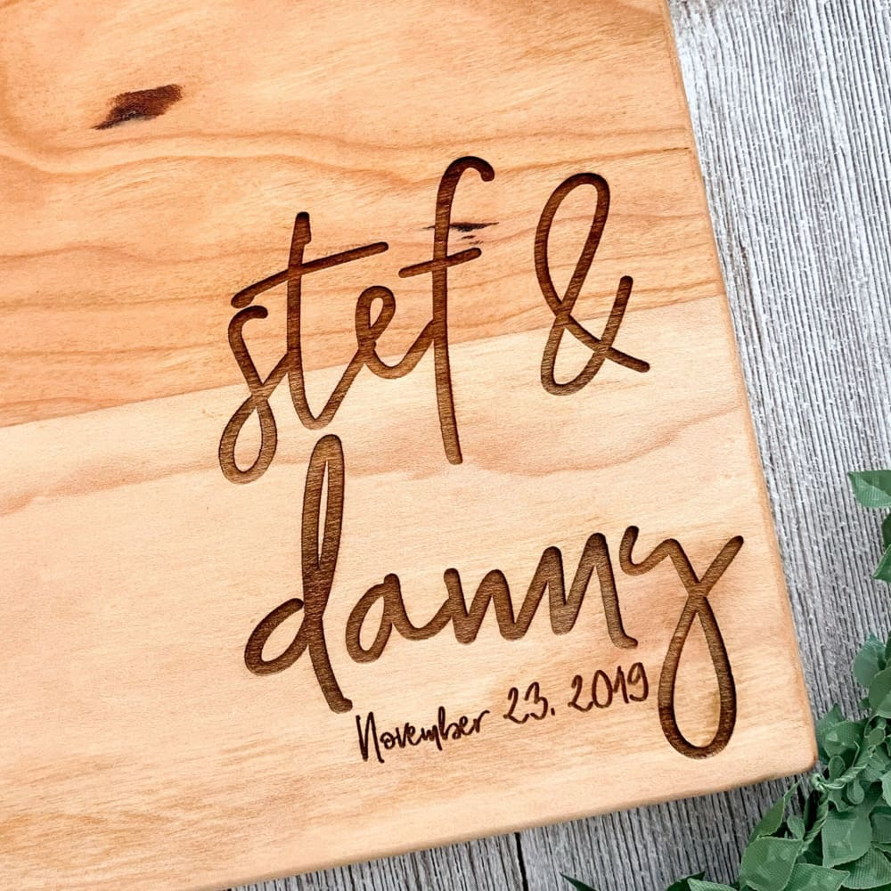 Heart Of Our Home Personalized Maple Cutting Board