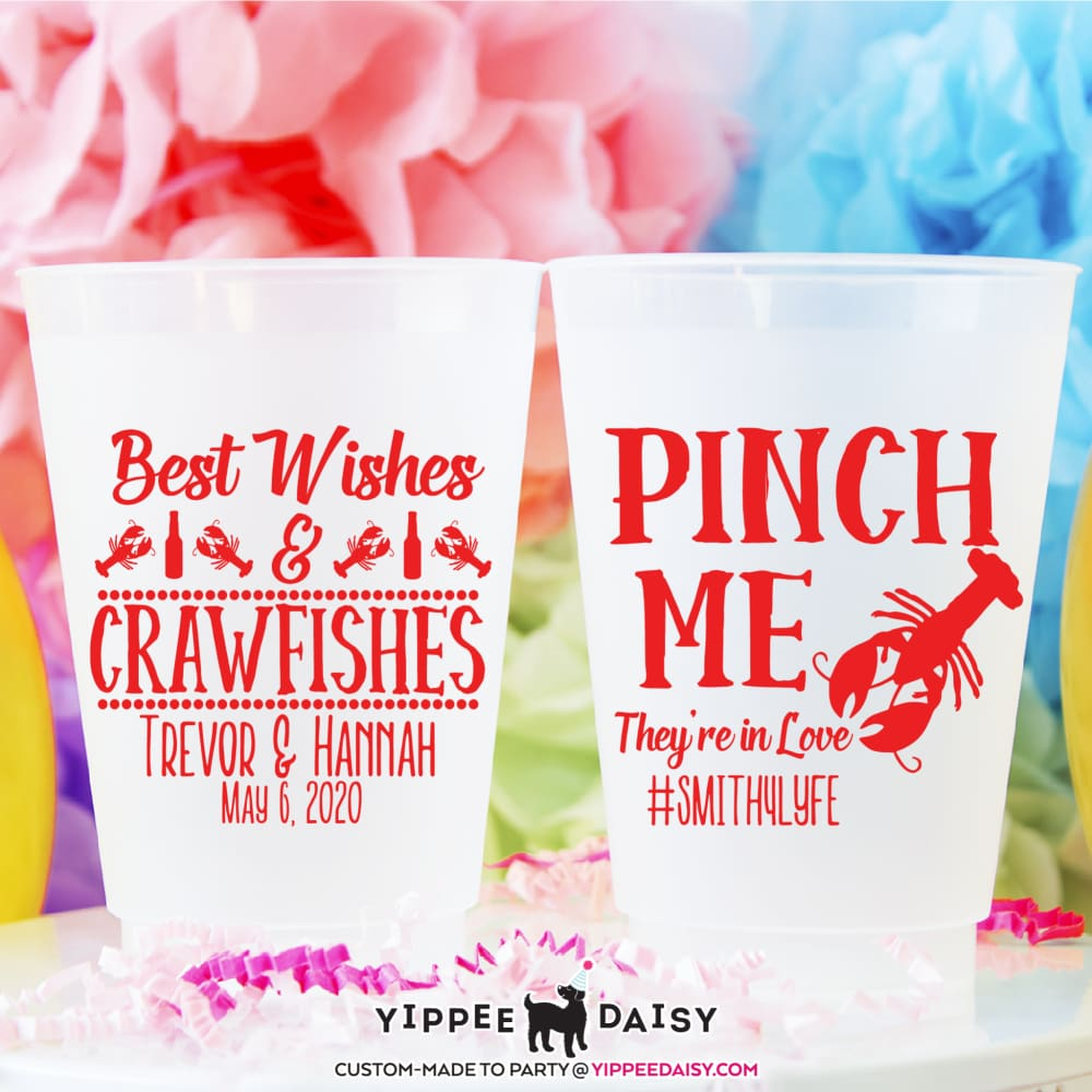 Best Wishes & Crawfishes Personalized Wedding Frosted Cups - Frosted Cup