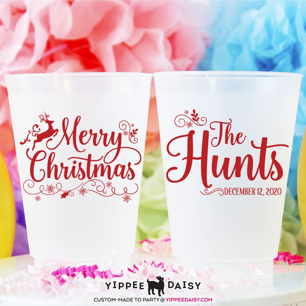 Merry Christmas - Frosted Cups