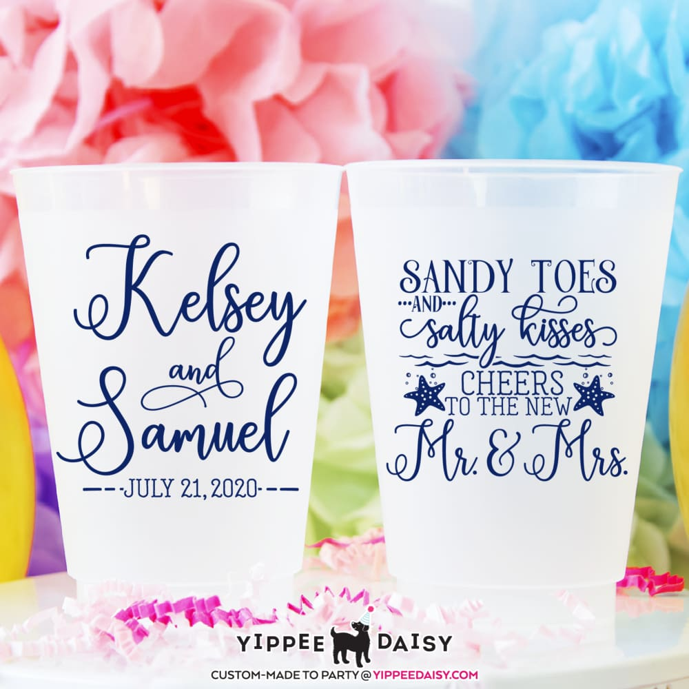 Sandy Toes & Salty Kisses Personalized Frosted Cups - Frosted Cup