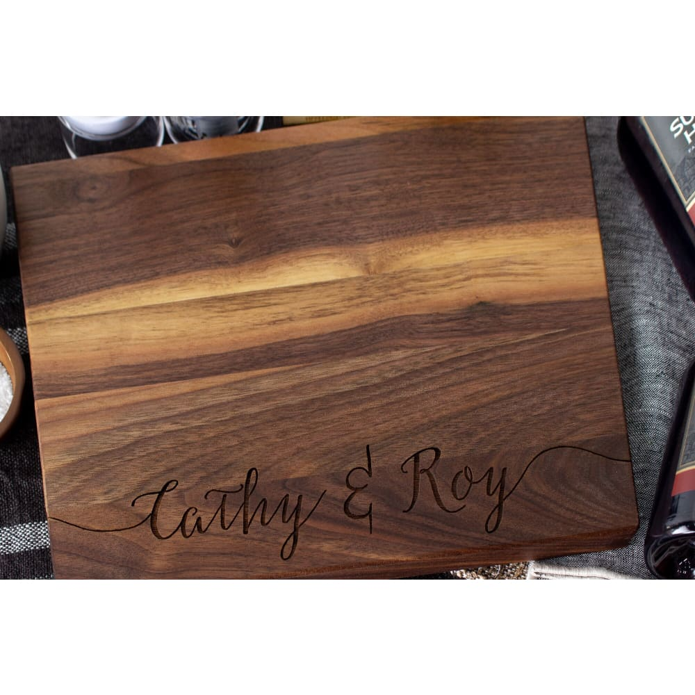 Stamped Elegance Deuce Personalized Cutting Board