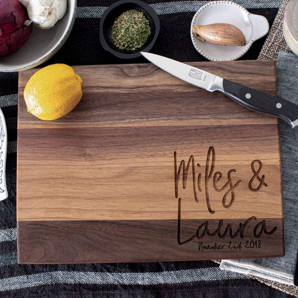 Siblings Personalized Maple Cutting Board
