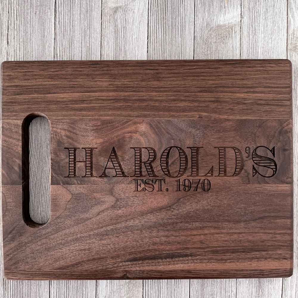 Chef's Monogram Personalized Cutting Board