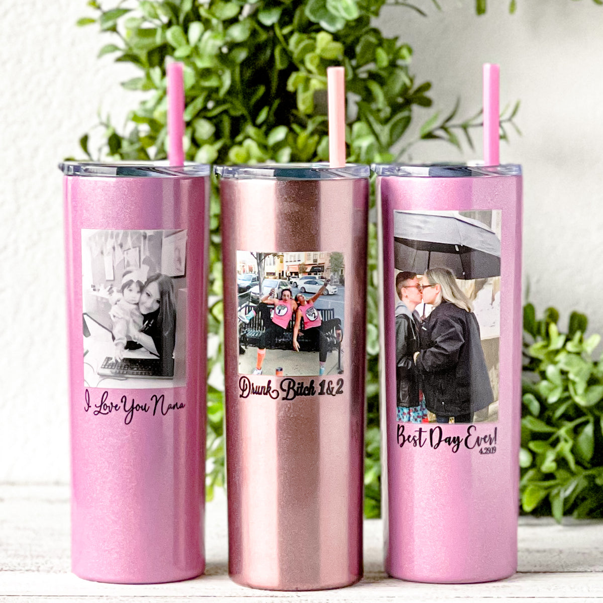 pictures printed on insulated 20 ounce tumblers