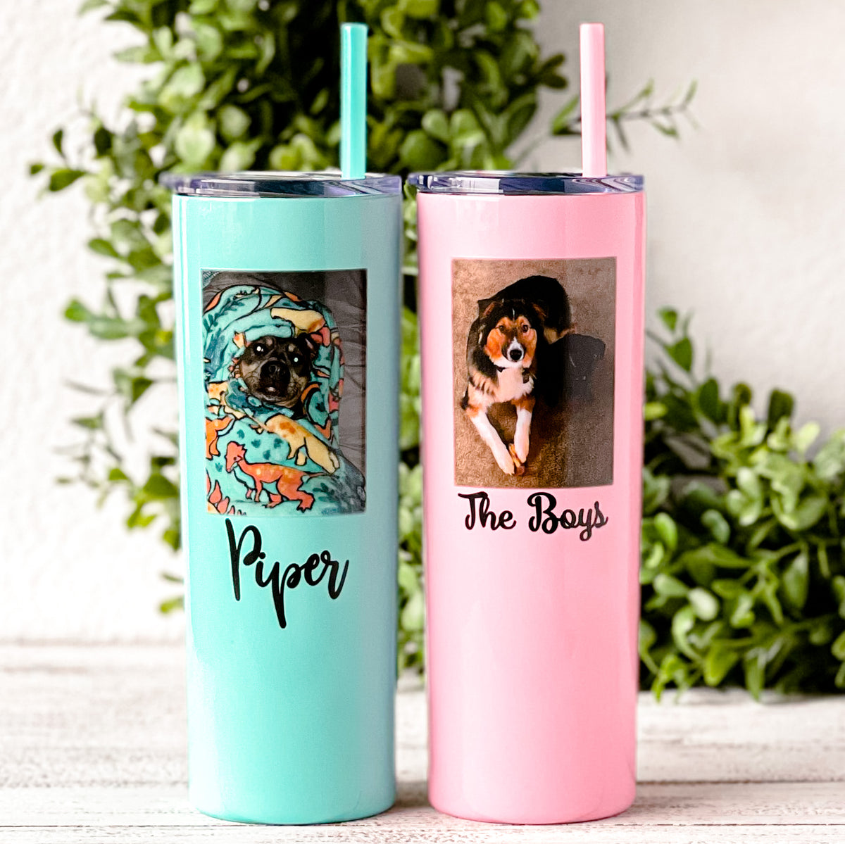 personalized photo tumbler