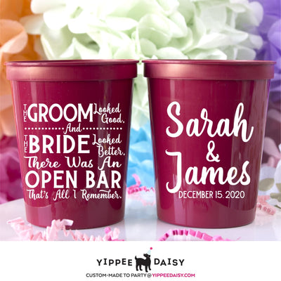 The Groom And The Bride Stadium Cups