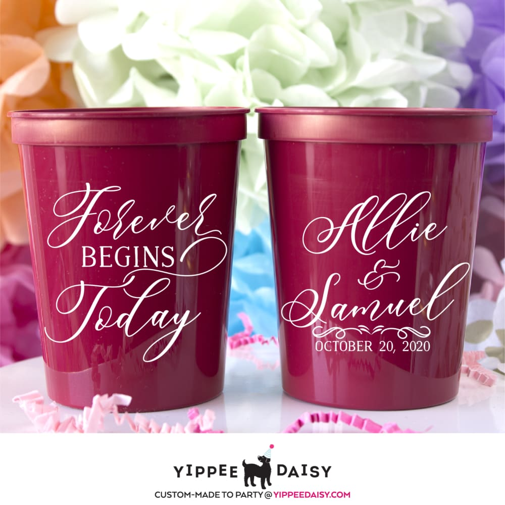 Forever Begins Today Stadium Cups