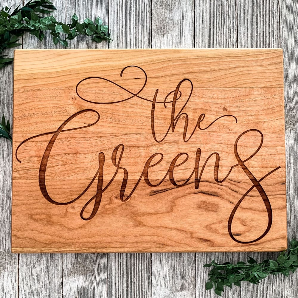 The Family Name Established Personalized Cutting Board