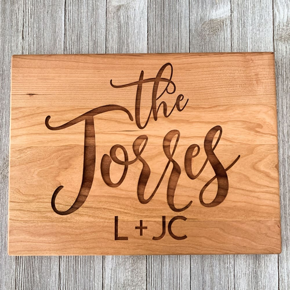 Classic Couple Personalized Cutting Board