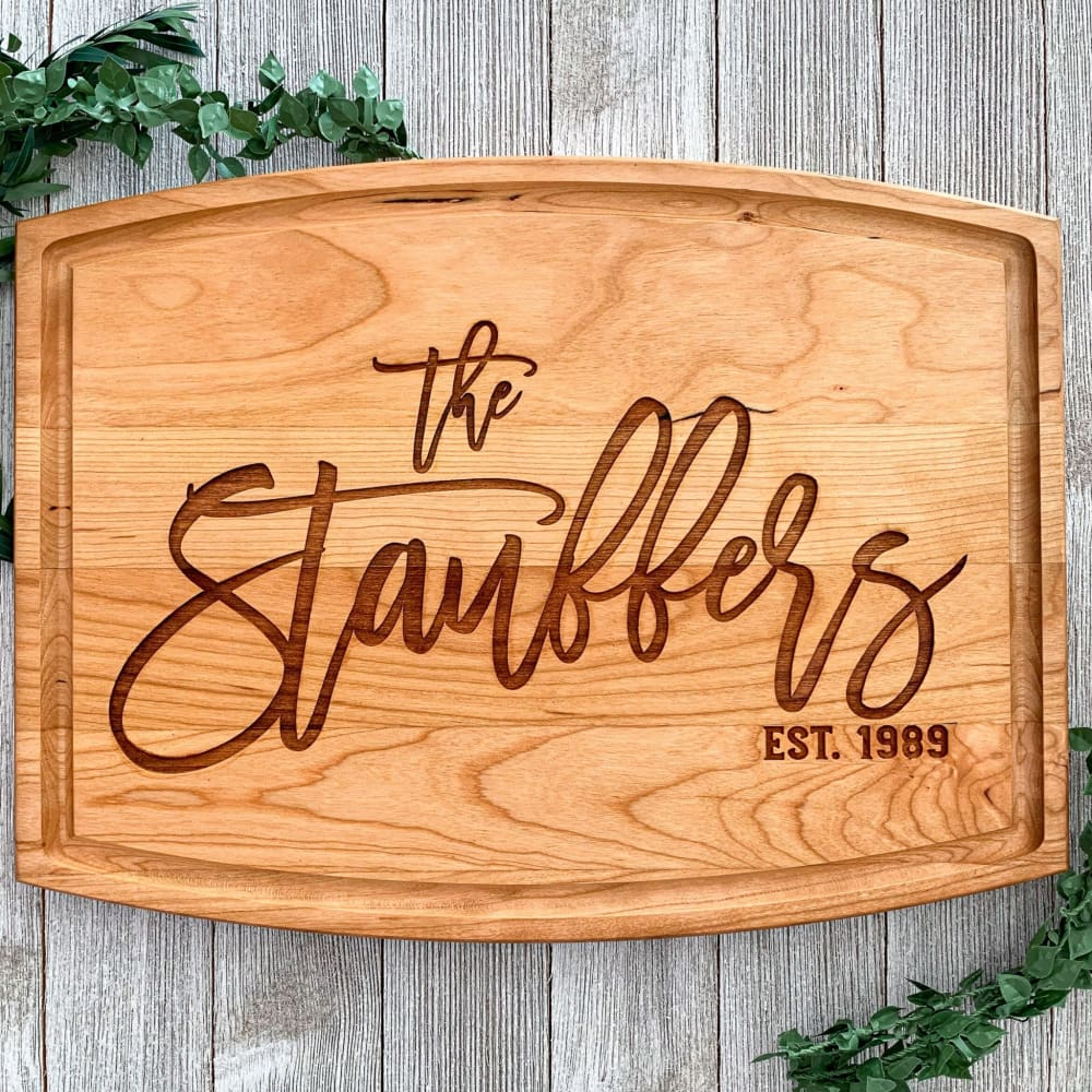 Engraved Family Establishment Cutting Board
