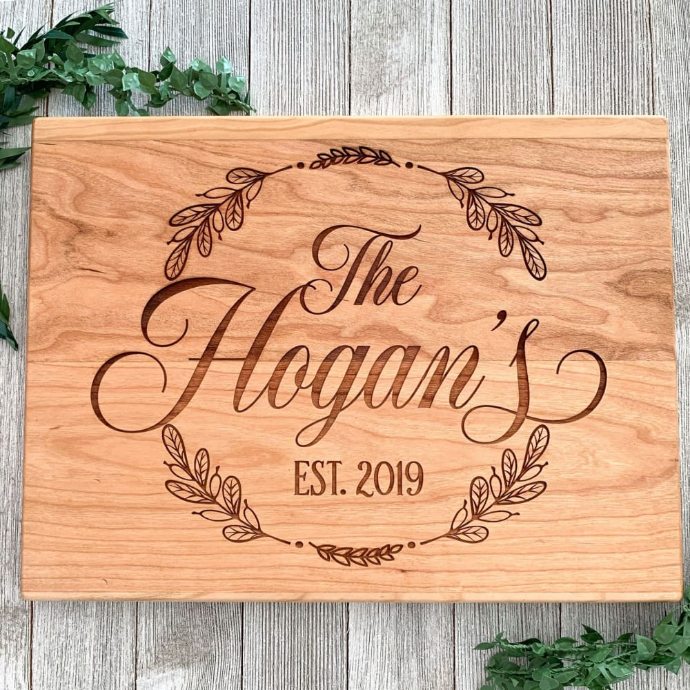 Stamped Elegance Personalized Cutting Board